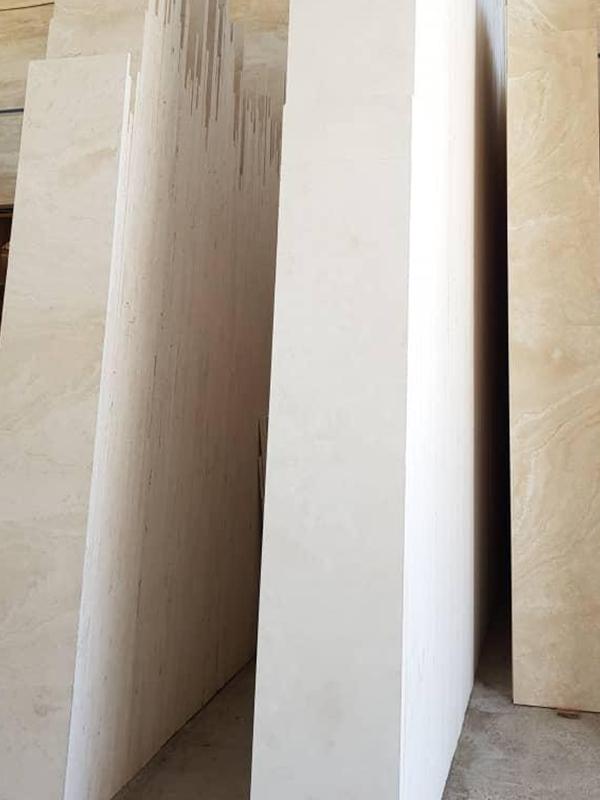 قیمت سنگ نما ممتاز سفید آتشکوه ، فروش ویژه تراورتن مستقیم از کارخانه سنگبری نزدیک معدن